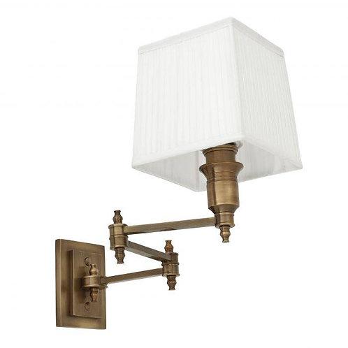 Pakabinamas šviestuvas, žalvarinis su gaubtu
