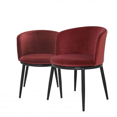 Kėdė, medžiaginė, metalinė 2vnt.