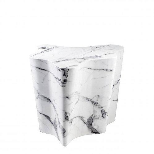 Staliukas, marmurinis, baltas
