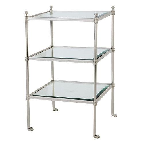 Staliukas, metalinis, stiklinis, sidabrinis