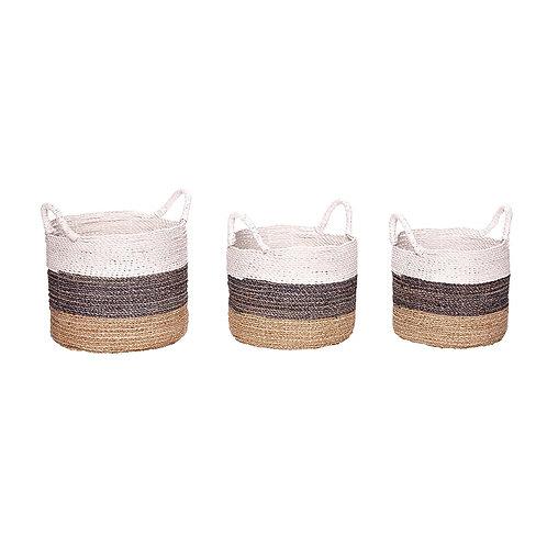 Krepšys, apvalus su jūros žole