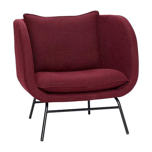 Kėdė, medžiaginė, metalinė, bordo