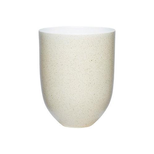 Vazonas, porcelianinis, gelsvas