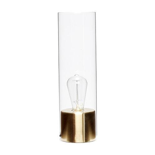 Stalinis šviestuvas, žalvarinis, stiklinis