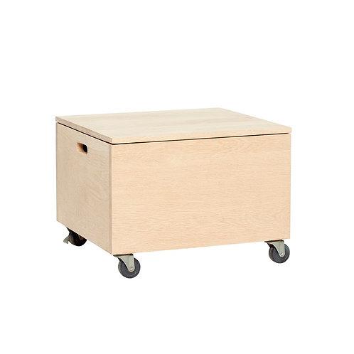 Dėžė su ratukais, ąžuolinė