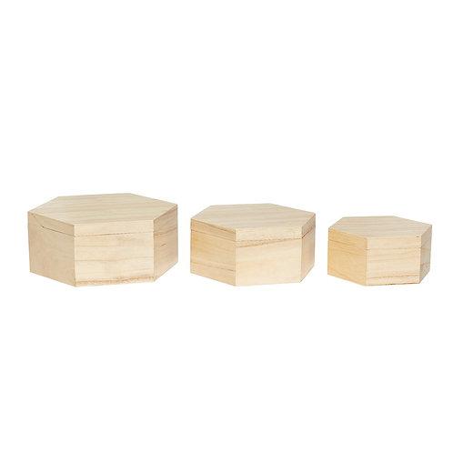 Dėžutės, uždaromos, medinės 3vnt.