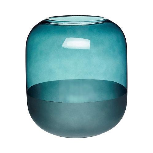 Vaza, stiklinė, žalia