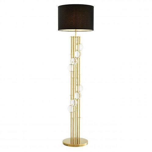 Pastatomas šviestuvas, metalinis, stiklinis su gaubtu