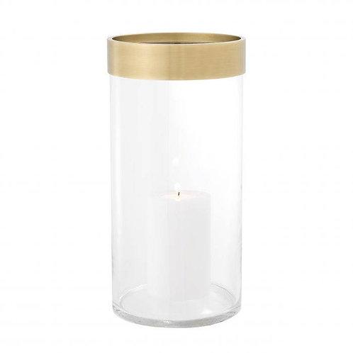 Žvakidė, žalvarinė, stiklinė