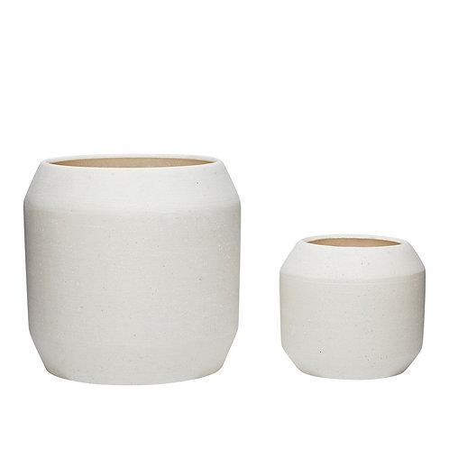 Vazonai, keramikiniai, balti 2vnt.