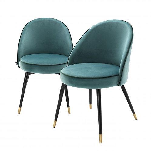 Kėdė. velvetinė, metalinė 2vnt.
