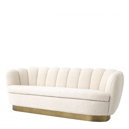 Sofa, medžiaginė, žalvarinė