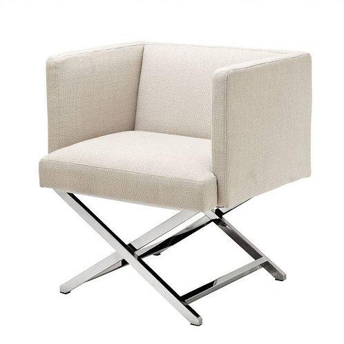 Kėdė, medžiaginė iš nerudijančio plieno