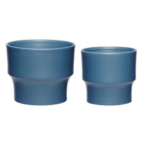 Vazonai, keramikiniai, mėlyni 2vnt.