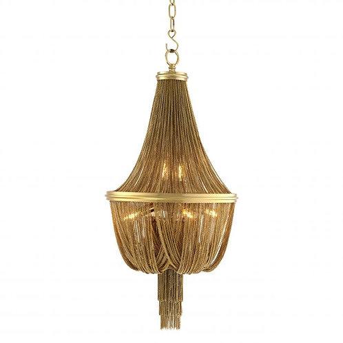 Pakabinamas šviestuvas, metalinis, auksinis