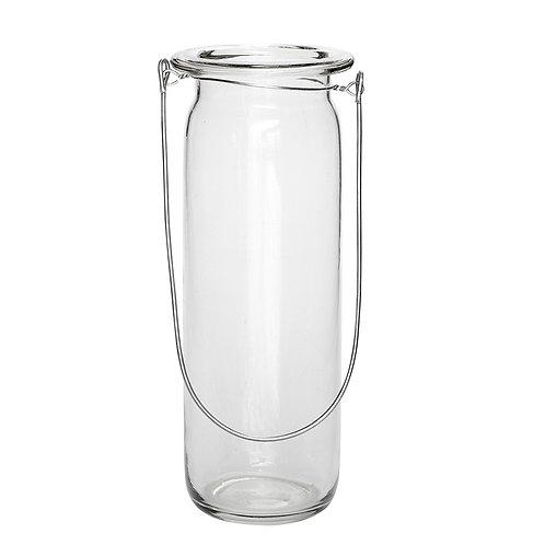 Žibintas, apvalus, stiklinis, didelis