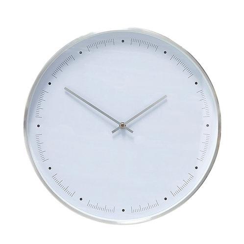 Laikrodis, metalinis, baltas