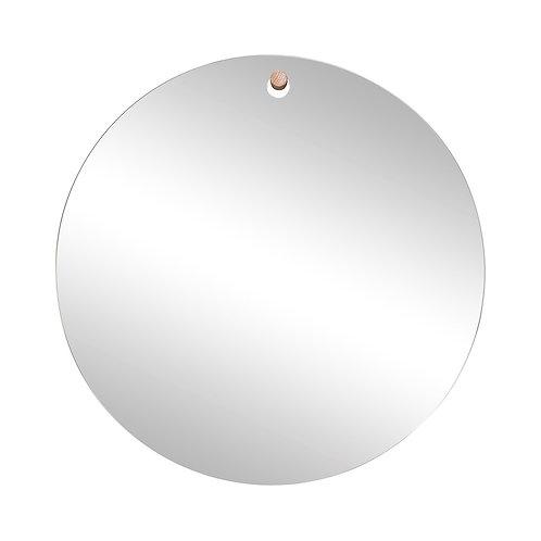 Pakabinamas veidrodis, apvalus, stiklinis