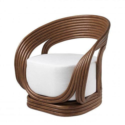 Kėdė iš rotango, medvilninė