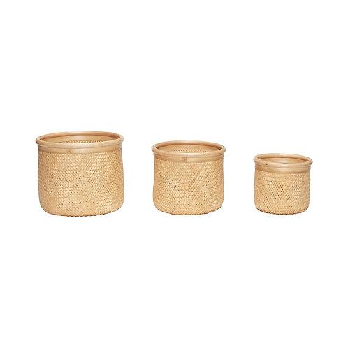 Krepšys, bambukinis