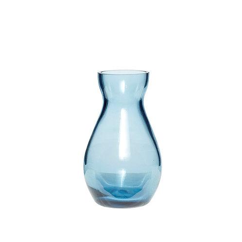 Vaza, stiklinė, mėlyna