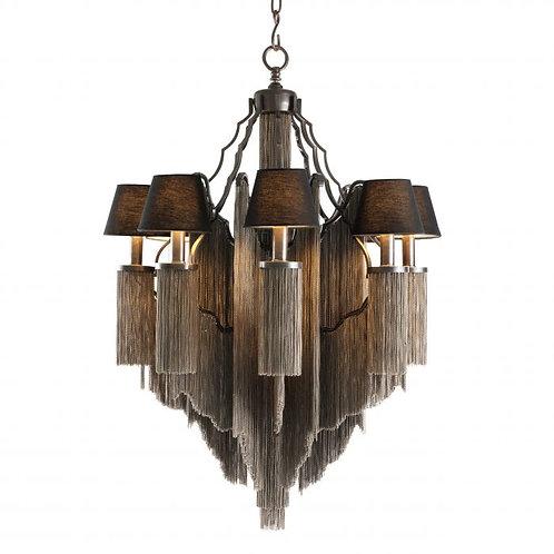 Pakabinamas šviestuvas, metalinis, rudas