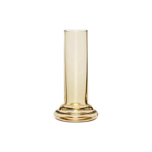 Vaza, stiklinė, geltona