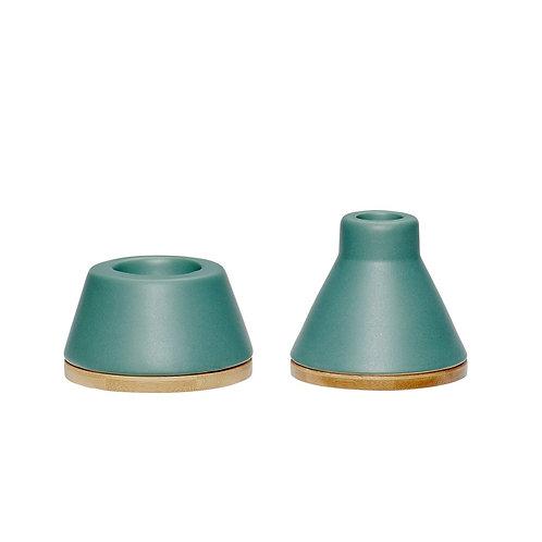 Žvakidė, keramikine, medinė