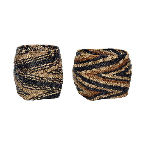Krepšys iš popieriaus virves