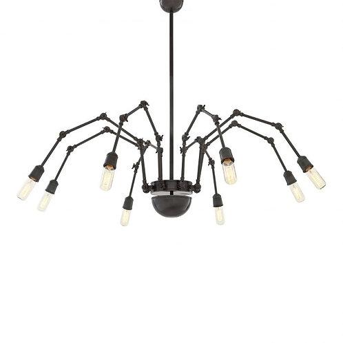 Pakabinamas šviestuvas, metalinis, juodas