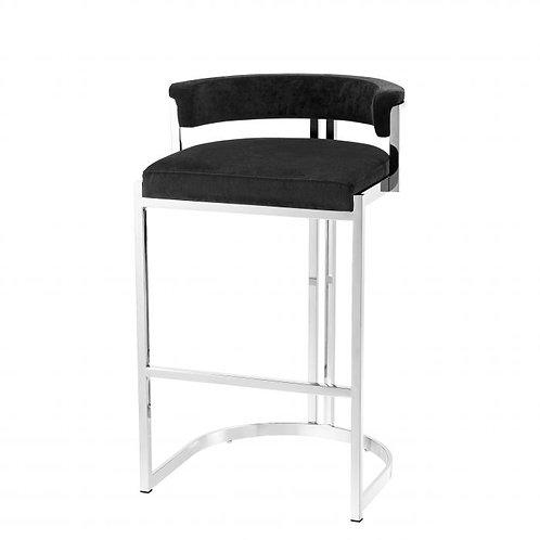 Kėdė, velvetinė, metalinė