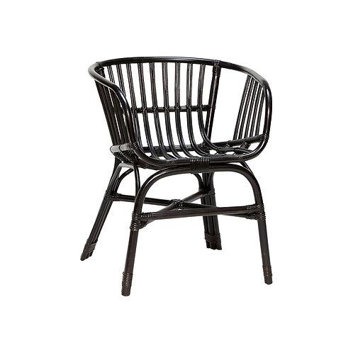 Kėdė, rataninė, juoda