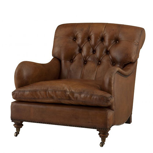 Kėdė, odinė, metalinė