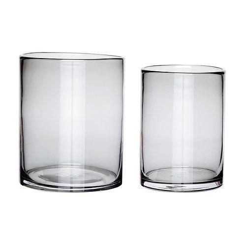 Vazos, stiklinės, pilkos 2vnt.