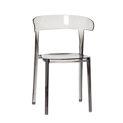 Kėdė, plastikinė, pilka