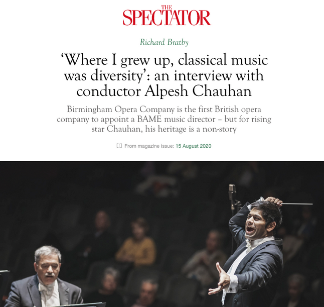'Where I grew up, classical music was diversity': an interview with conductor Alpesh Chauhan