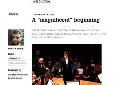"""""""A magnificent beginning"""" at the ASO"""