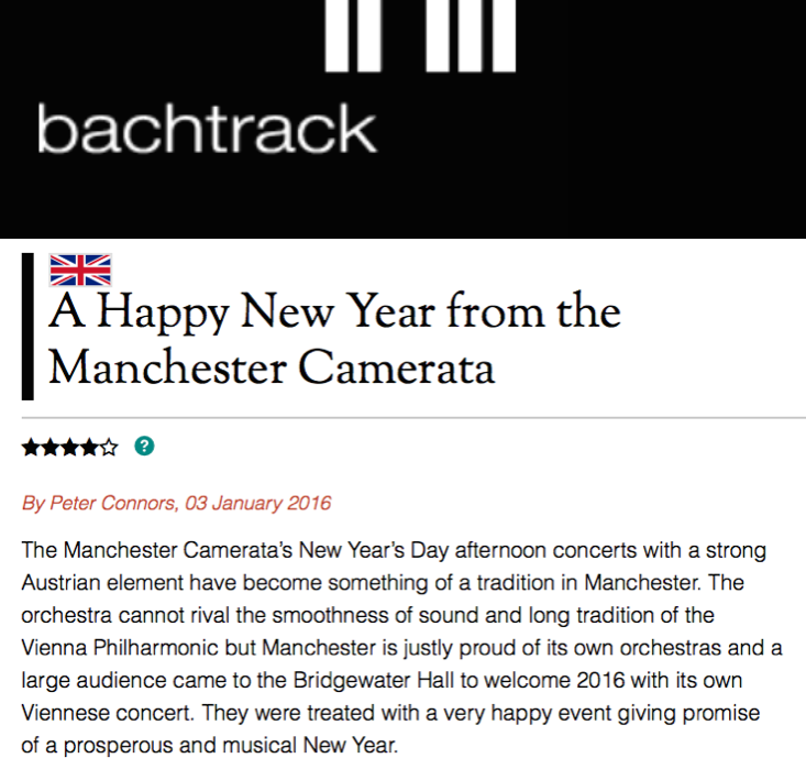 Alpesh starts the new year with Manchester Camerata