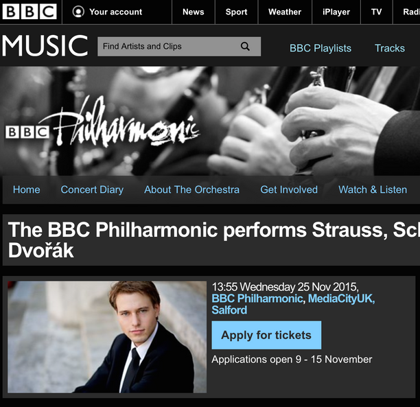 BBC Philharmonic Studio Concert ticket applications open