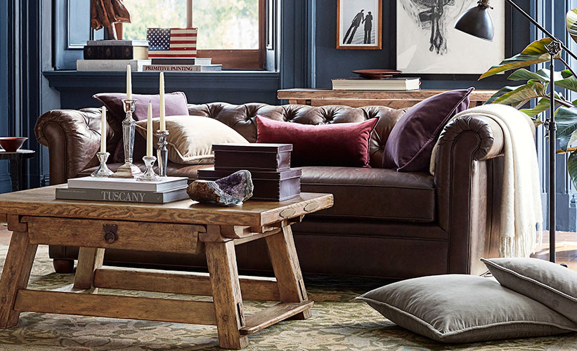 Decorate A Leather Couch