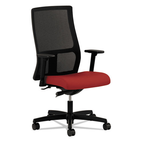 Charmant HON Ignition Series Mesh Mid Back Work Chair, Poppy Fabric Upholstered Seat
