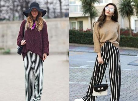 Pantalona Listrada: 3 Possíveis combinações para vestir.