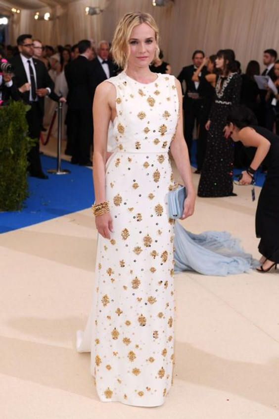 Diane Kruger vestindo Prada no MET GALA 2017