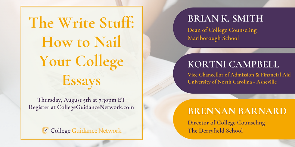 The Write Stuff: How to Nail Your College Essays.