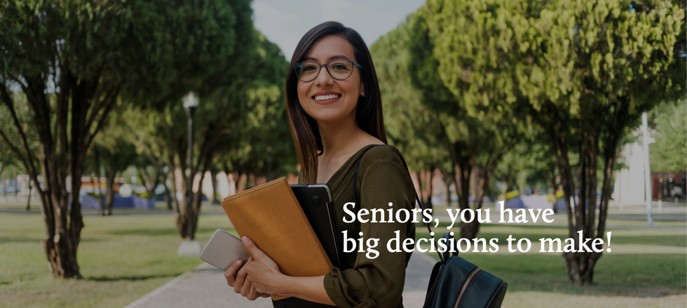 Toolkit: Seniors you have a big decision to make