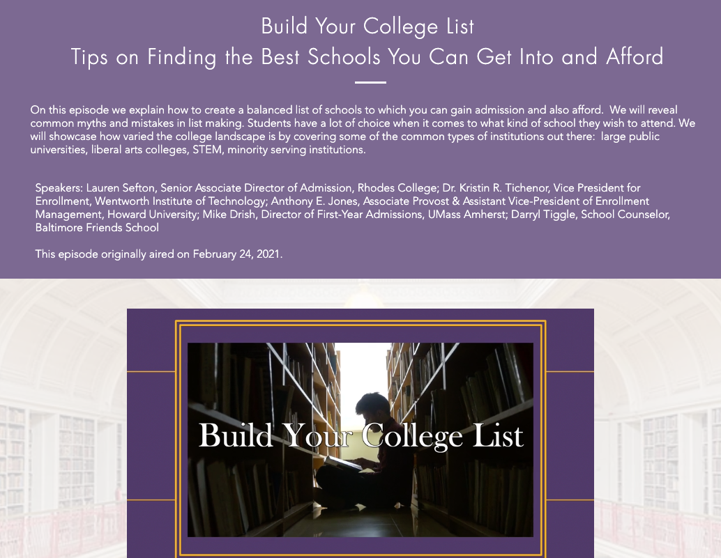 Build Your College List