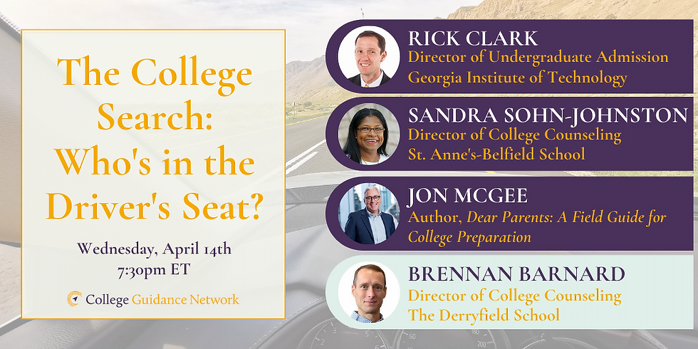 The College Search: Who is in the Driver's Seat?