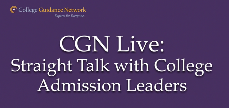 CGN Live: Straight Talk with Admission Leaders