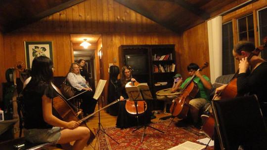 music festival rehearsal