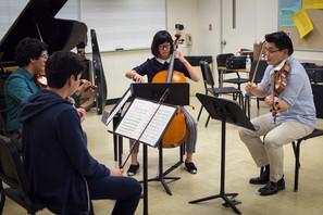 Ravel string quartet rehearsal